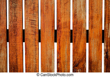 old wooden fence in garden on white background