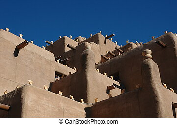 New Mexico - Santa Fe typical architecture in New Mexico