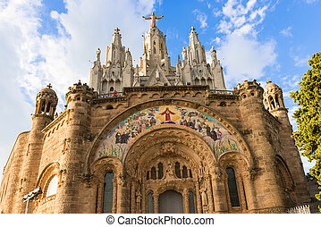Church of the Sacred Heart, Tibidabo, Barcelona - Church of...
