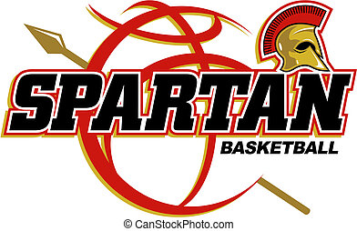 spartan basketball design with basketball