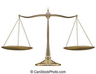 Balance over white