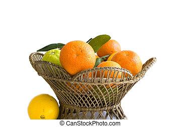 Orange fruits in basket