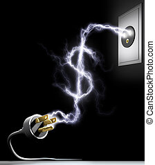 Price Energy - Concept of the cost of electricity.