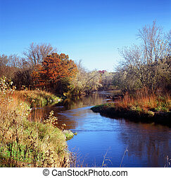 Rum River Bend - Minnesota - Sunny, crisp autumn morning...