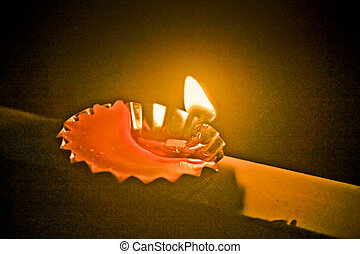 Flame, Traditional Diya, Maharashtra, India