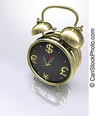 Business Time - Concept of time is money.