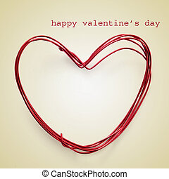 happy valentines day - picture of a heart-shaped coil of...