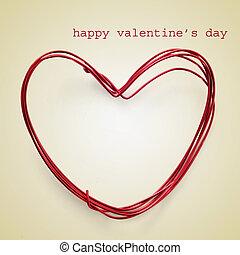 Valentines, día, feliz
