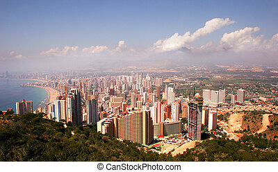 Benidorm Skyline - A view of the Benidorm skyline from a...
