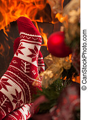 Relax in christmas ambiance - Somebody relaxing next to...