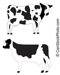 cows - vector farm animals cows