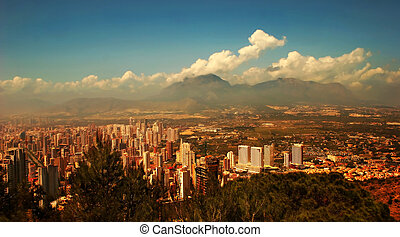 Benidorm Horizon - A view of the Benidorm skyline from a...