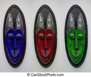 African Face Mask Image - An african face mask digital image...