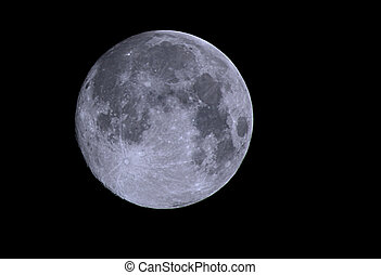 Moon - A view of a full moon on a clear night in England.