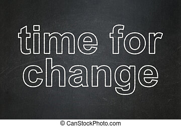 Time for Change on chalkboard background