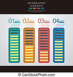 abstract bar chart infographics - vector abstract 3d paper...