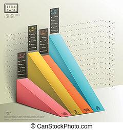 modern abstract 3d chart infographics - modern abstract 3d...