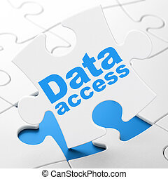 Data Access on puzzle background - Data concept: Data Access...