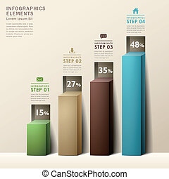 modern abstract 3d chart infographics - modern abstract 3d...