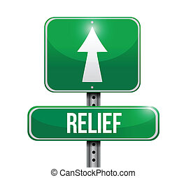 relief road sign illustration design over a white background