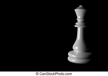 3D, ajedrez, pedazos