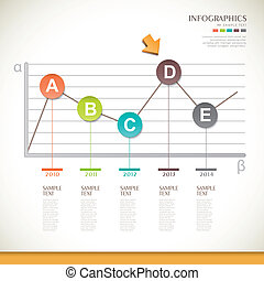 abstract line chart infographics design