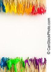 畫, 藝術, 背景, 彩虹