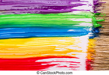 Rainbow paint background