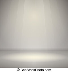 Empty Room with Light - Product showcase scene in silver and...