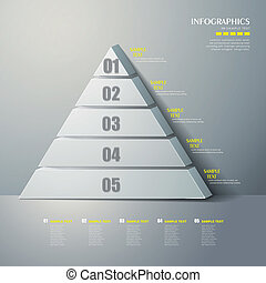 vector abstract 3d Pyramid type infographics - vector...