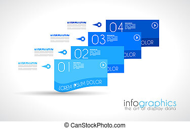Infographic Design Template with modern flat style Ideal to...