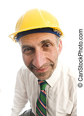 contractor construction man with hard hat - executive...