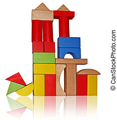 Montessori toys - Colorful wooden toy blocks - Montessori...