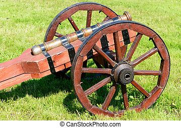canhão, rodas, antiga