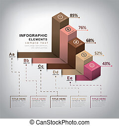 vector abstract 3d cube infographics - vector abstract 3d...