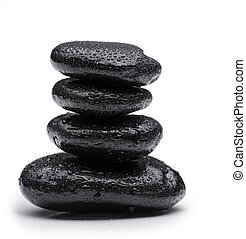 Spa stones   on isolated white