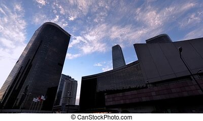 CBD buildings in Beijing - The skyscraper towers into the...
