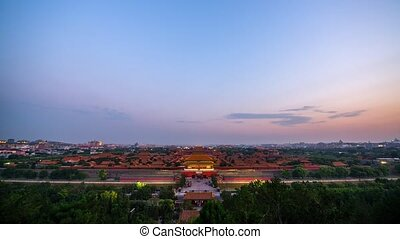 Overlooking the Forbidden City - Timelapse Overlooking the...