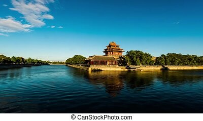 Turret of Forbidden City - Timelapse The turret of the...