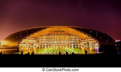 National theater at night. - National theater at night in...