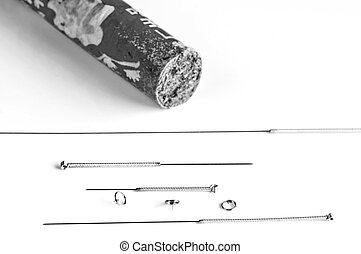 acupuncture needles and moxibustion