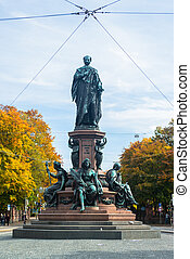 Monument of King Max II in Munich, Maximilian street The...
