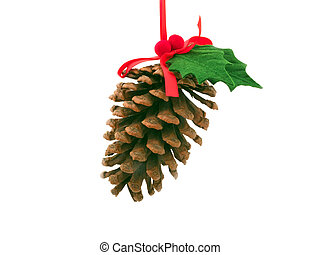 pinecone with christmas  decoration