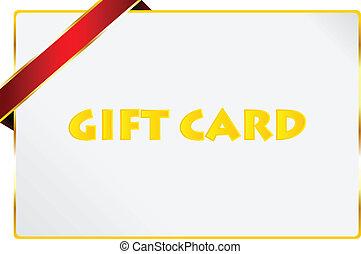 regalo, tarjeta, premio