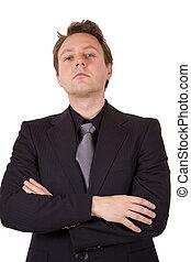 Arrogant businessman - An arrogant business man with his...
