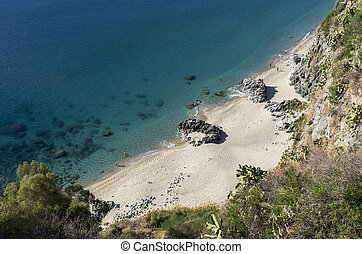 sea and coast of Calabria - glimpse of the sea and of the...