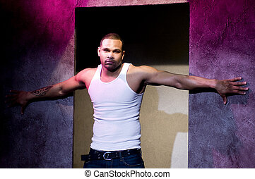 maurice nash stage actor model in theater lighting