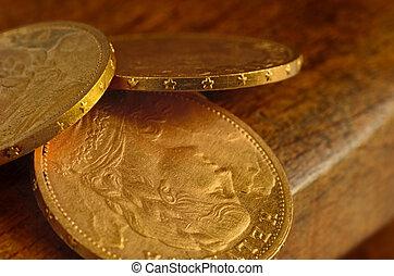 Swiss golden coins - Few swiss golden coins from last...