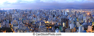 Sao Paulo cityscape - Aerial view of Sao Paulo in the night...