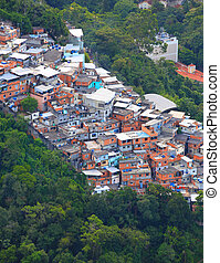 Brazilian Favela - Favela in the middle of Rio de Janerio...